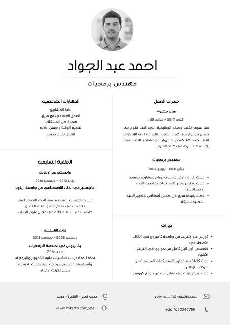 انشاء سيرة ذاتية pdf : تصميم سيرة ذاتية احترافية (مضمونه 100%)   منصة اجتهاد